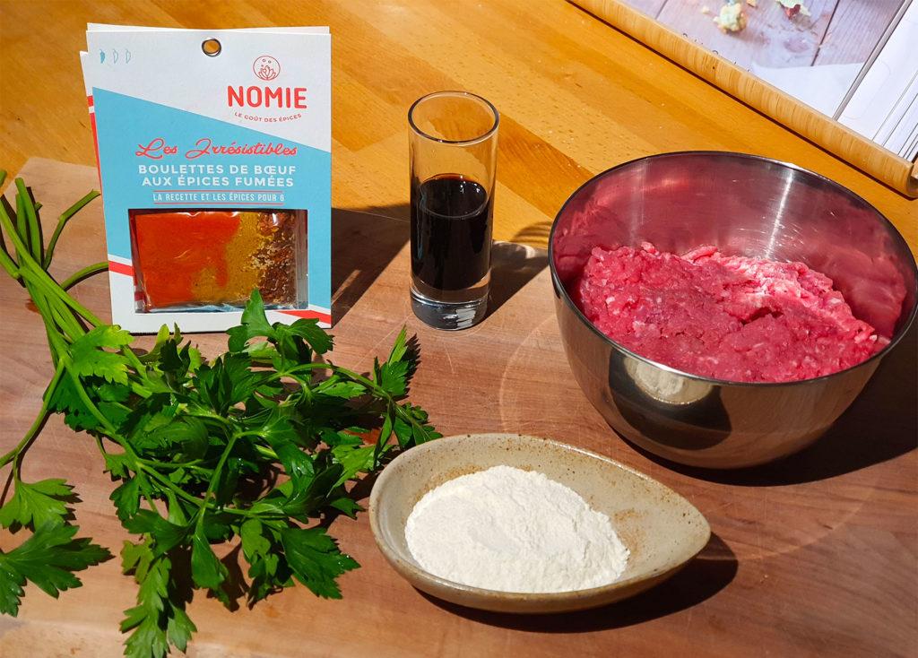 Boulettes de bœuf aux épices - Les ingrédients