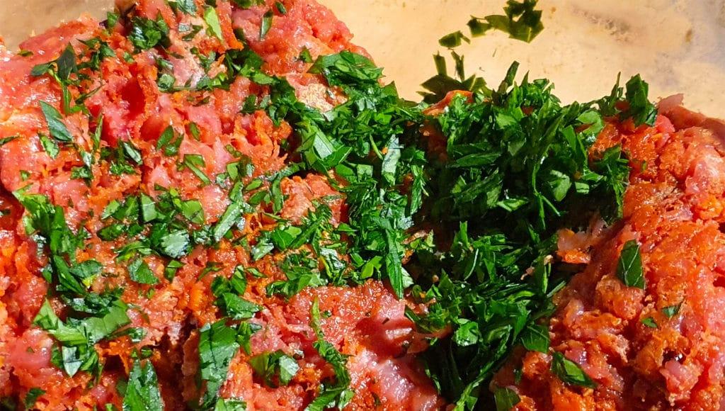 Boulettes de bœuf aux épices - Mélange