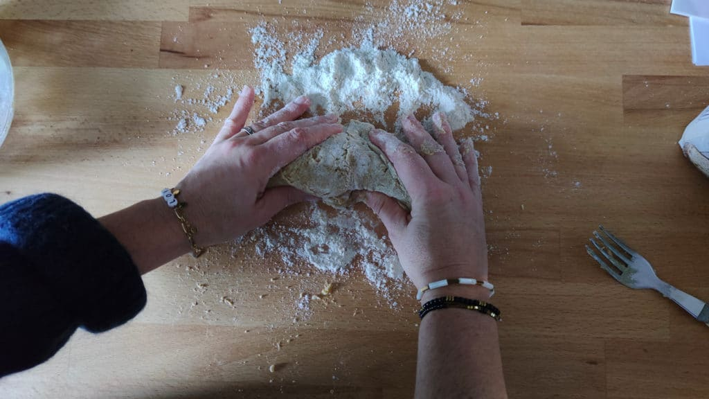 Pétrissage pâtes fraiches